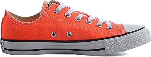 Converse Kid's Chuck Taylor All Star Seasonal Ox Fashion Sneaker Shoe - Hyper Orange - Boys - 12
