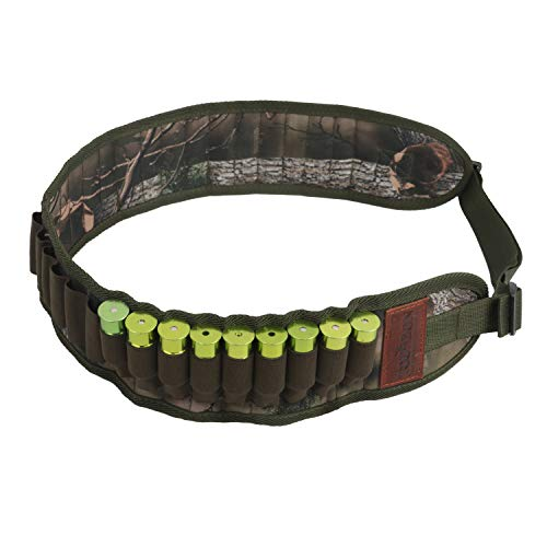 - Tourbon Nylon 30 Round 12 Gauge Shotgun Shell Holder Cartridge Belt Ammo Bandolier - Camo