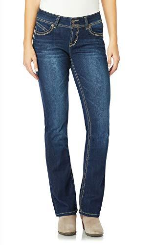 WallFlower Juniors Luscious Curvy Short Inseam Basic Bootcut Jeans in Scarlett Size: 15 Short