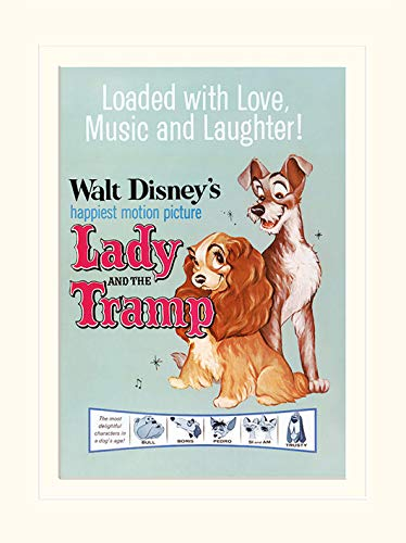 Pyramid International Lady and The Tramp (Love, Music and Laughter) - Mounted Print Memorabilia 30 x 40cm, Paper, Multicoloured, 30 x 40 x 1.3 cm LMP11425P