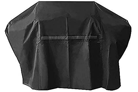 UV PROTECTION iCOVER 60 Inch Heavy-Duty water proof patio outdoor black oxford BBQ Barbecue Smoker/Grill Cover G21604 for weber char-broil Brinkmann Holland and (Brinkmann Smoker Pan)
