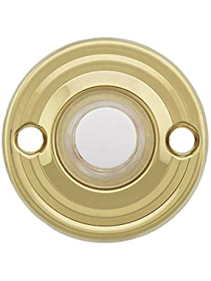 "A'dor DB6 Round Solid Brass Doorbell Button - 1 3/4"" Diameter"