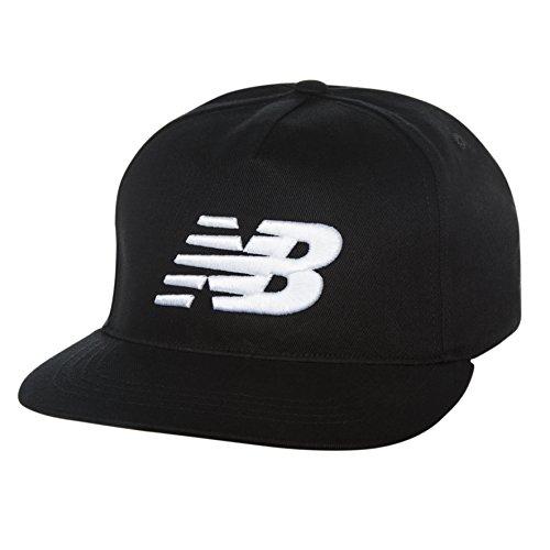 New Balance 5 Panel Pro II Logo Cap, One Size, Black