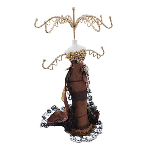 - Li'Shay Stunning Evening Dress Mannequin Necklace Stand -Brown