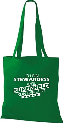Shirtstown Bolso de tela Estoy Azafata, weil Superheld sin Trabajo ist kelly