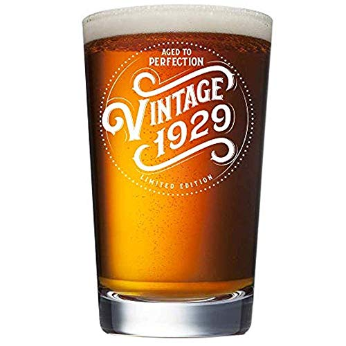 Aged to Perfection Vintage 1929 Beer Glass
