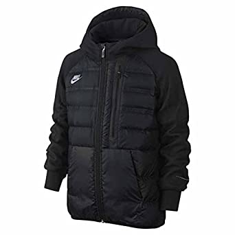 Amazon.com: Nike Boys Aeroloft Tech Fleece Jacket Down Black ...