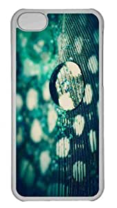 Customized iphone 5C PC Transparent Case - Water Drop Macro Personalized Cover