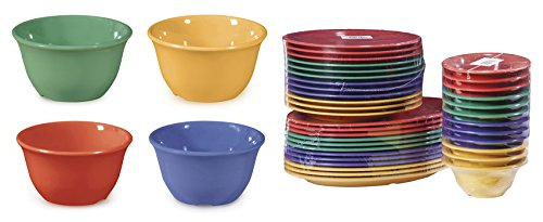 G.E.T. Enterprises BC-70-MIX-EC 7 oz. Bowl, Mix Pack of 4 Mardi Gras Colors (Pack of 4)
