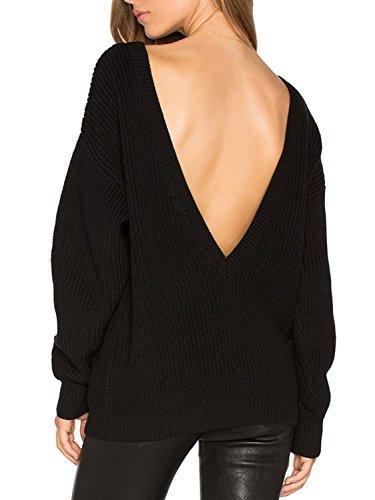 PERSUN Womens Sleeve Jumper Sweater