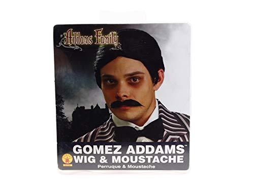 Gomez Addams Wig & Moustache Costume Accessory
