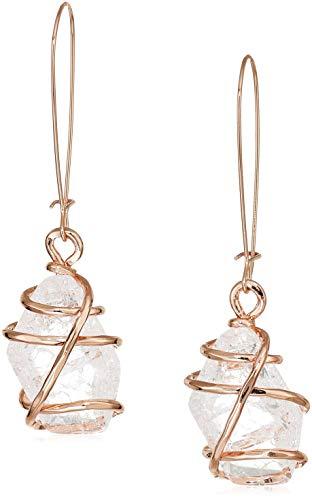 - Robert Lee Morris Soho Caged Stone Drop Earrings, Crystal