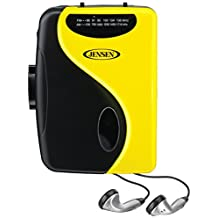 Jensen Stereo Cassette Player with AM/FM Radio (YELLOW)