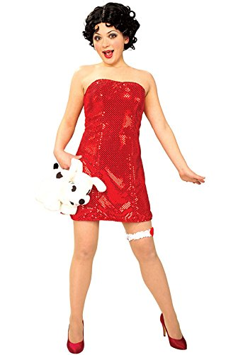 [Secret Wishes  Betty Boop Costume With Wig, Red, Small] (Betty Boop Wig)