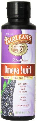 De Barlean oméga-3, l'huile de lin Circonvolution, Blackberry, 8-once