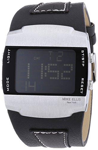 Mike Ellis New York Herren-Armbanduhr LCD Digital Quarz Kunstleder SL4217/1