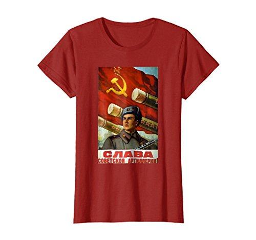 Soviet T-Shirt USSR Propaganda Vintage Poster Artillery Army