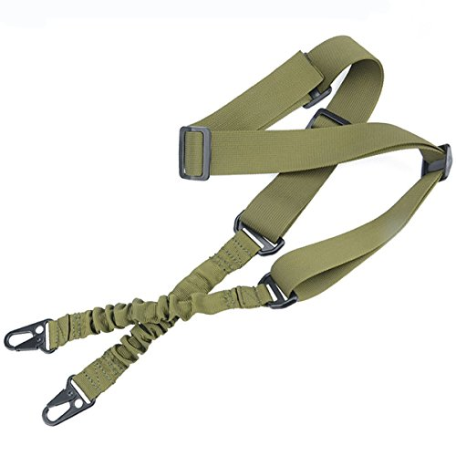 LVLING 2 Point Multi-Use 2-IN-1 Rifle Gun Sling Adjustable Shoulder Rope Strap Cord for Outdoor Sports, Hunting