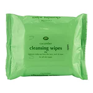 Boots Cucumber Face Wipes 30s.