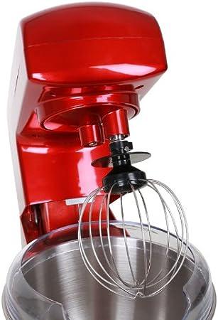 Robot de cuisine Syst/ème de desserrage rapide 5 L rouge M/élangeur 1000 W Klarstein Gracia Rossa Syst/ème dagitation plan/étaire bol en acier inoxydable 10 vitesses 1,3 CV P/étrin