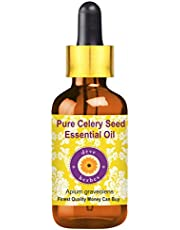 Deve Herbes Pure Celery Seed Essential Oil (Apium graveolens) with Glass Dropper 100% Natural Therapeutic Grade Steam Distilled 30ml (1.01 oz)