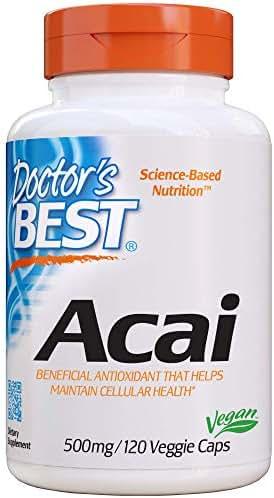 Doctor's Best Acai, Non-GMO, Vegan, Gluten Free, Soy Free, 120 Veggie Caps