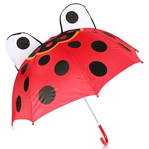 HC-Handel 910933 Regenschirm für Kinder mit dem Motiv Biene, Marienkäfer, Frosch, Fußball, Kuh, Ente