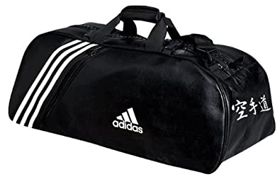 16be24414e Adidas Sac de sport Karaté New Bandes Blanches L 70x35x35 cm: Amazon ...