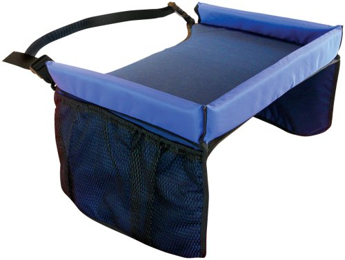 Star Kids Snack & Play Travel Tray - Easy To Clean Nylon With Mesh  Pockets, Cup Holder & Reinforced Sides. Keeps Snacks Off The Floor  & ... - Star Kids Snack & Play Travel Tray - Easy To Clean Nylon With