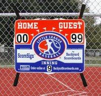 ScoreSign Little League Baseball Portable Scoreboard (Softball Baseball Scoreboards)
