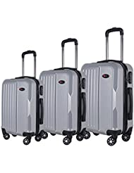 3-Piece Hardside Spinner Expandable Suitcase Set #1701