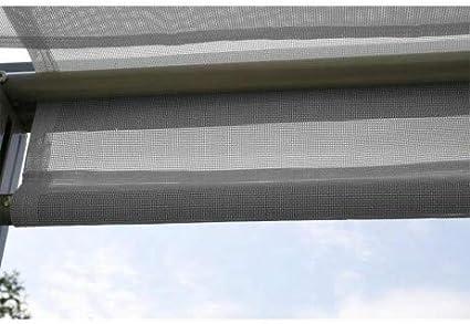 Pergola brise-Soleil Venezia 3 x 3 m en aluminio gris y ...