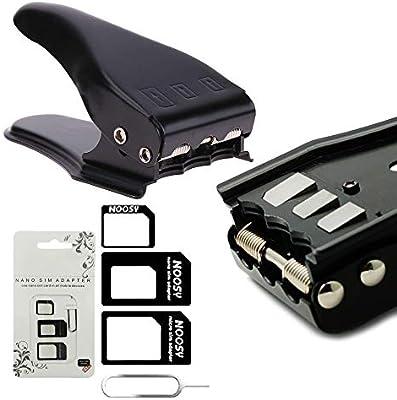 MMOBIEL Cortador Universal 3 en 1 para Tarjeta SIM estándar/Micro/Nano para Todos los simkarten de Smartphones/Tablets 3 Adaptadores SIM + 1 Aguja de ...