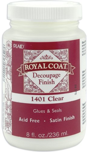 (Plaid:Craft Royal Coat Satin Decoupage Finish-8oz Clear)