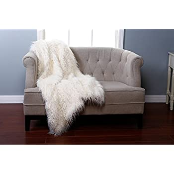 Amazon Com Best Home Fashion Ivory Mongolian Lamb Faux