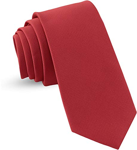 Handmade Necktie Skinny Woven Slim Mens Tie: Thin Burgundy Red Ties For Men, Stylish Neckties For Every Outfit 3