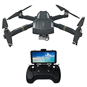 Beyondsky Foldable RC Drone C-FLY OBTAIN Foldable RTF Quadcopter with GPS WiFi FPV 1080P HD Camera 3-axis Gimbal Follow Me Mode with Remote Control (Grey, Controller) from Beyondsky