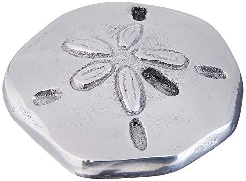 Mariposa 1943 Sand Dollar Napkin Weight, One Size, Silver