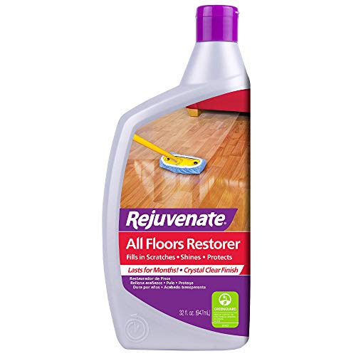 Floor Vinyl Wax - Rejuvenate All Floors Restorer Polish Fills in Scratches Protects & Restores Shine No Sanding Required Works on Hardwood, Laminate, Vinyl, Tile, Linoleum, Terracotta and More