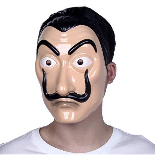 Unisex dali mask Realistic Movie Prop Face