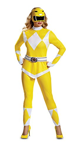 Disguise Women's Plus Size Yellow Ranger Adult Costume, XL -