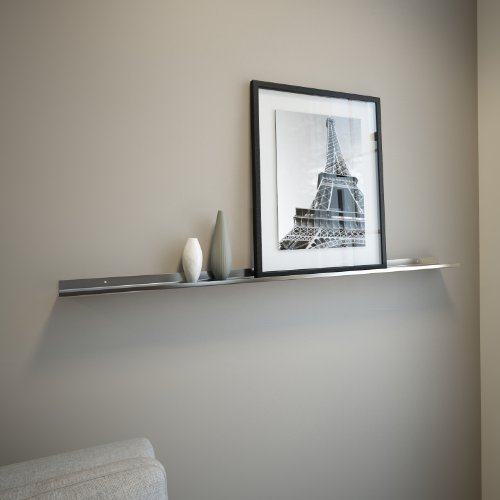 "Floating Ledge Stainless Steel for Photo and Picture 3,5"" Extra Deep (4 FT Long by 3.5"" Wide)"