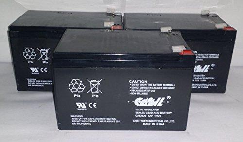 (3) Casil 12v 12ah F2 for RAZOR DIRT BIKE MX500 Replacement Batt