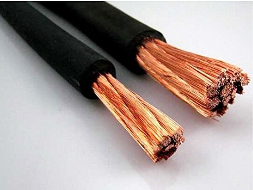 Nassau Power wire 4 Gauge AWG 225 ft BLACK. HD USA Welding Lead and Car Battery Cable 600V Copper Wire Cable by Nassau Electrical Supply (Image #1)