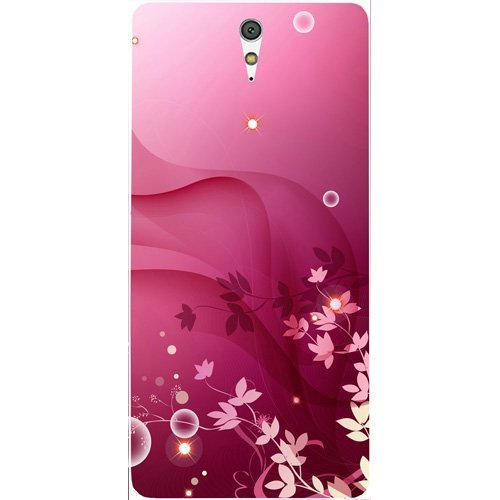 Casotec Pink Abstract Design Hard Back Case Cover for Sony Xperia C5 Ultra Dual