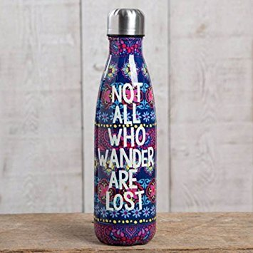 "Natural Life ""Not All Who Wander Are Lost"" Double Wall Water Bottle"