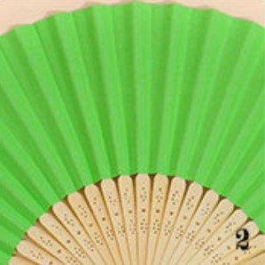 Dark Green Plain Diy Multi-Color Paper Bamboo Folding Hand Fan Happy Gifts Wedding Birthday Party Favors
