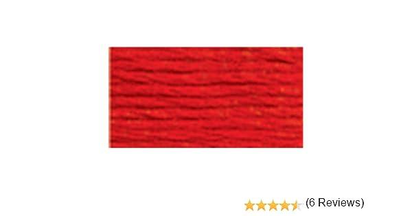 22,86 m 6 Hilos P/érdida de Bordado de algod/ón Trenzado DMC 117-606 Color Naranja Brillante