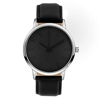 Gaxs Watches Aston Herren Armband Uhr GAXS012 Edelstahl Leder 5 ATM
