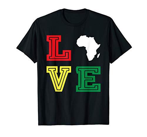 Love Motherland Africa Map T-Shirt - Black African Pride (Africa T-shirt Map)